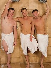 Bareback Threesome with Sean, Blake, and Curtis
