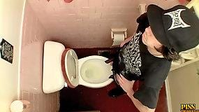 Unloading In The Toilet Bowl